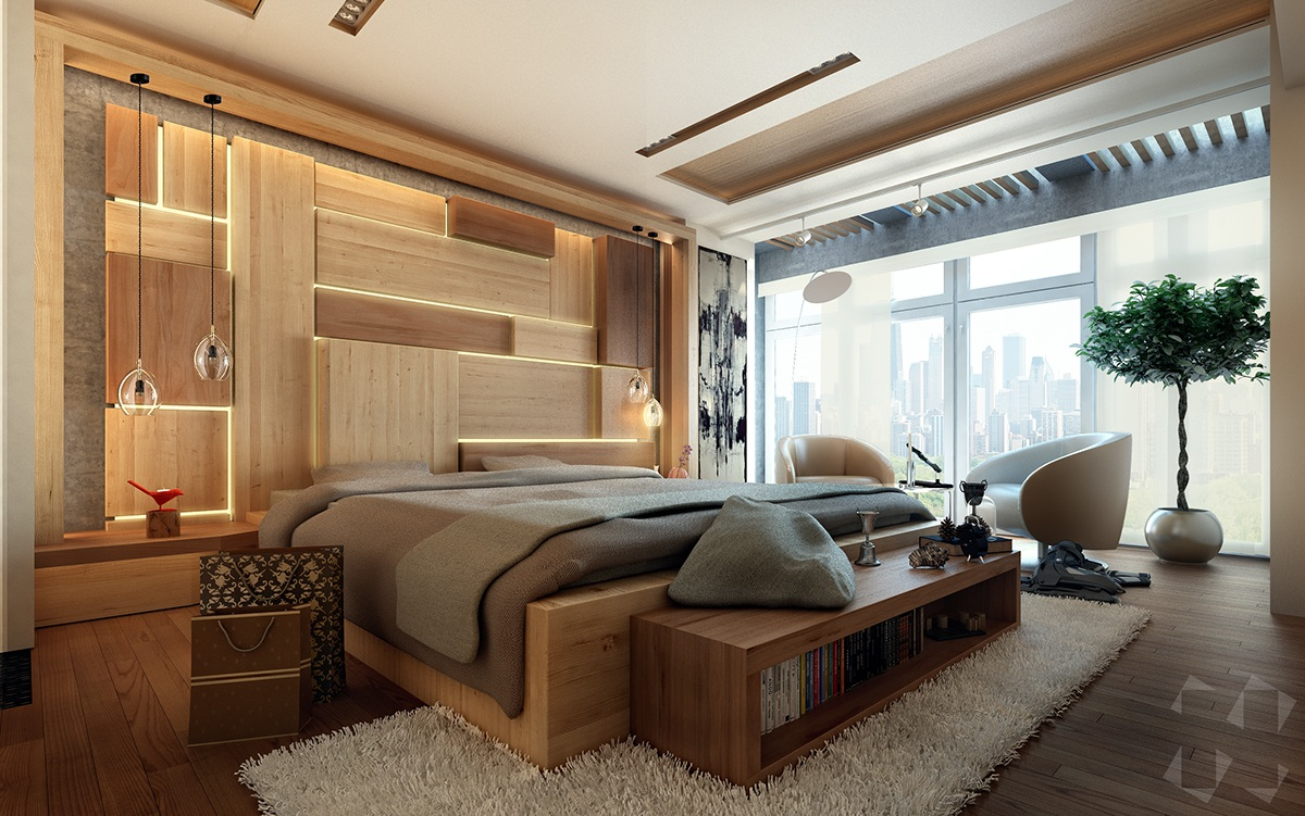 10 Beautiful Examples Of Bedroom Accent Walls - D.Signers on Minimalist:btlhhlwsf8I= Bedroom Design  id=57120