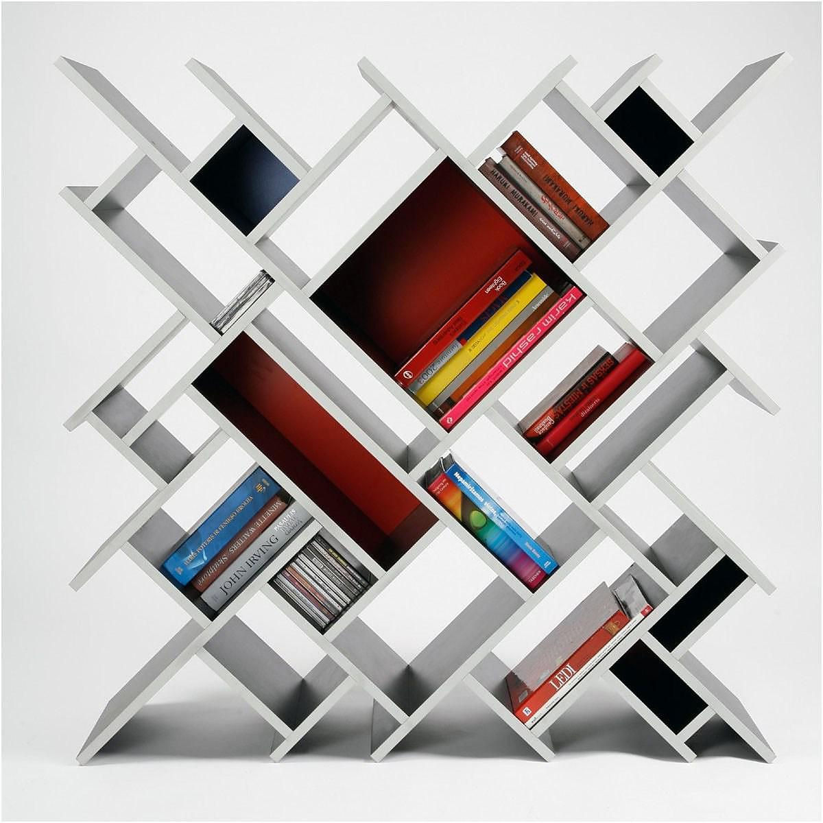 Our Criss Cross Bookshelf Has a Slanted Bookshelf Design. The Slant  Bookshelf Is an Ideal
