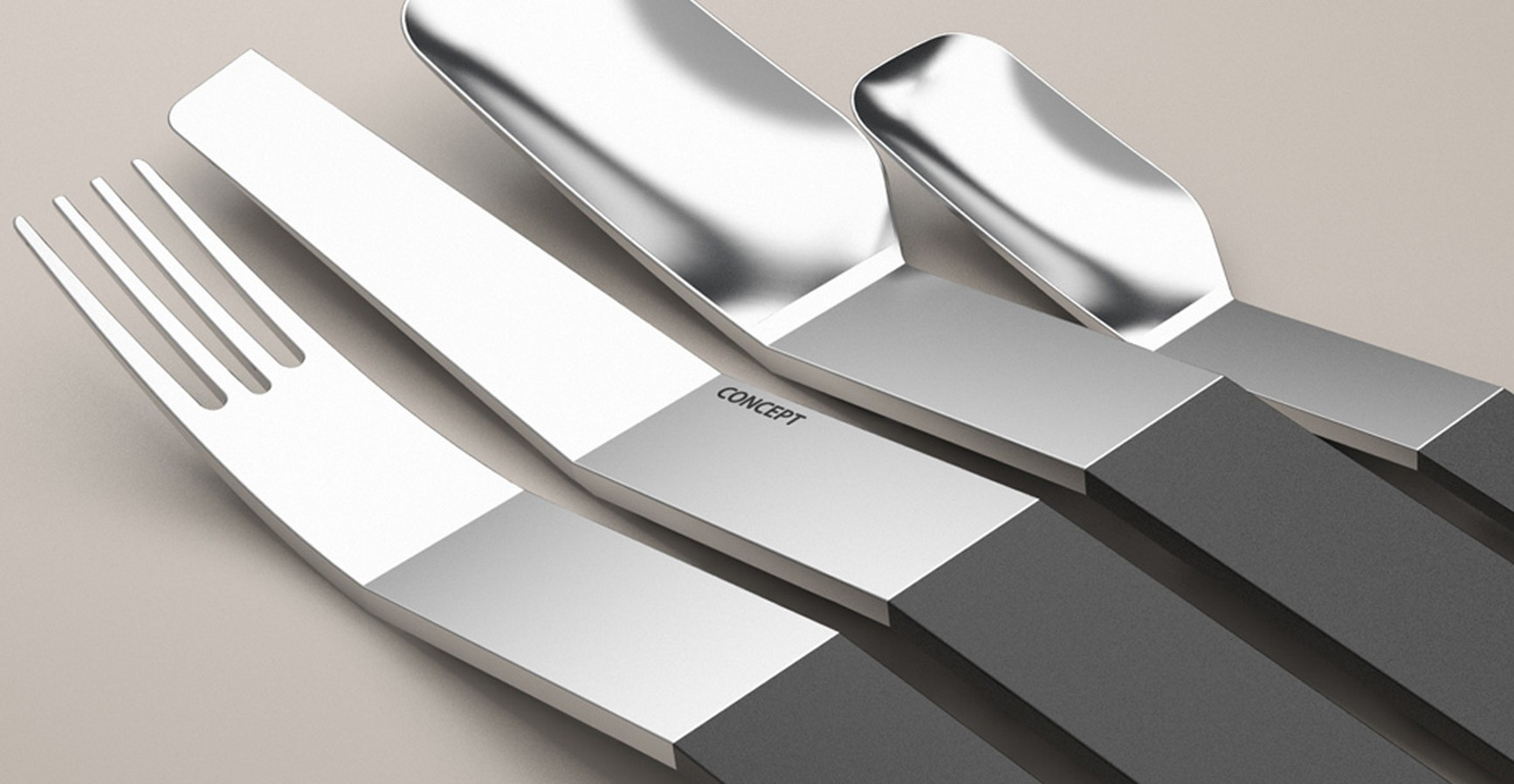 Geometric Cutlery: A Contemporary Interpretation · Furniture