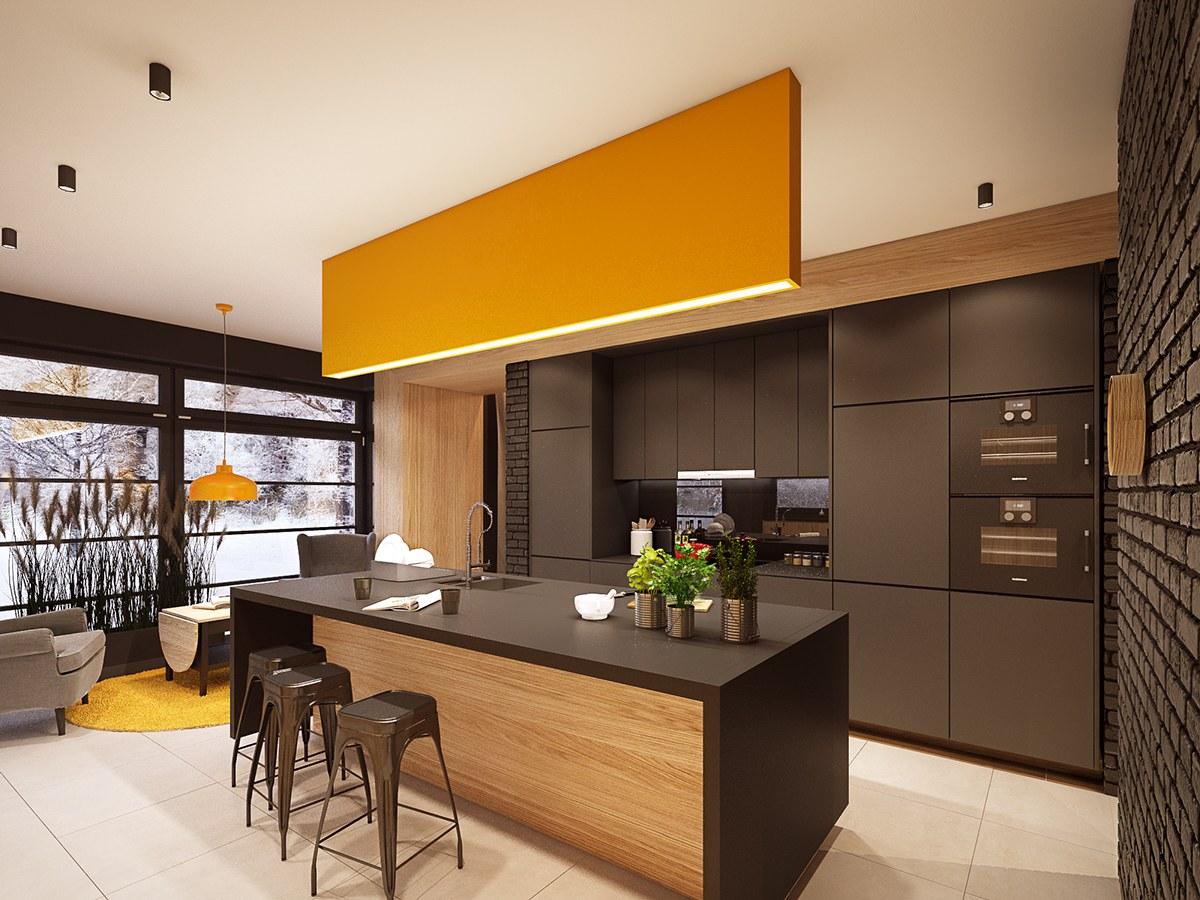 ... Kitchen Design Orange County Ca. 9orange Accent Design By Plasterlina