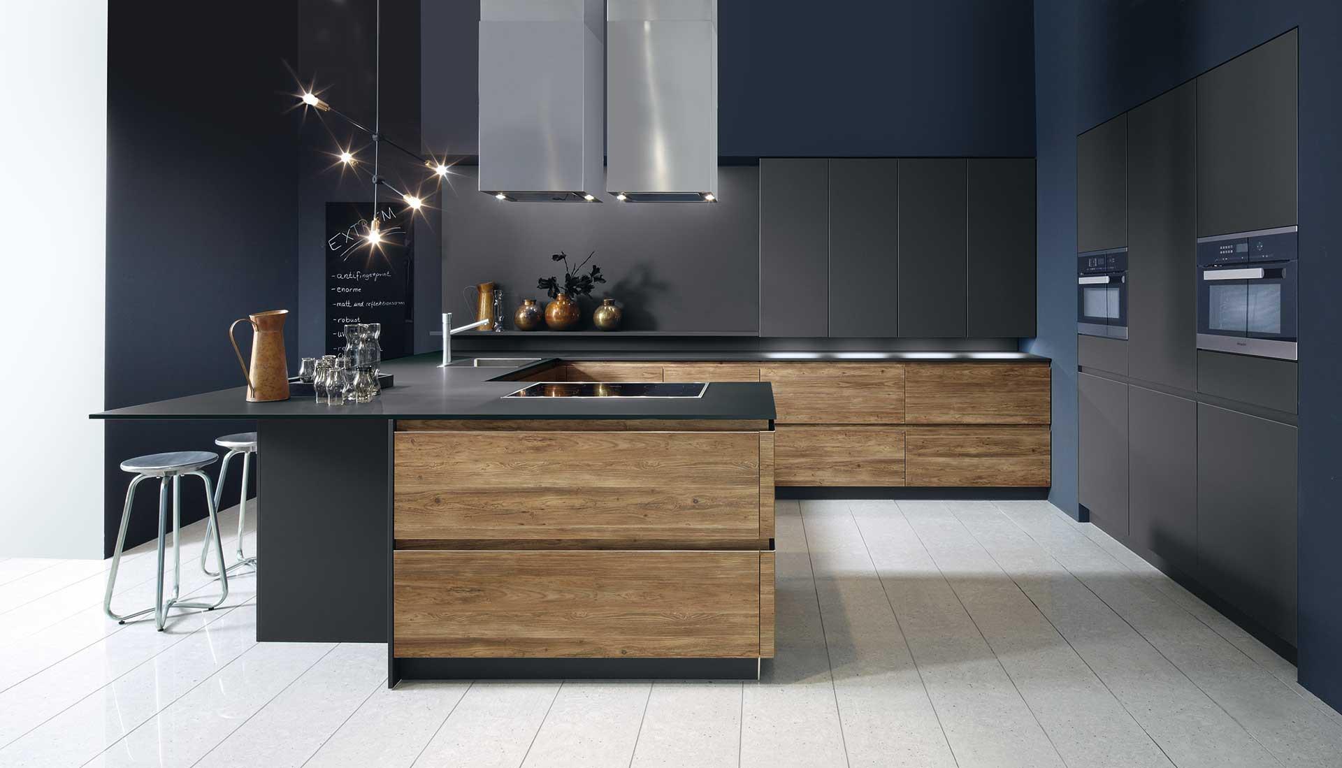 Keuken Design Inspiratie : Moderne keukens met hout grafische inspiratie met keuken d signers