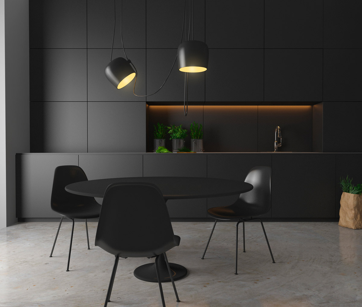 Gut Minimalist Black Kitchen
